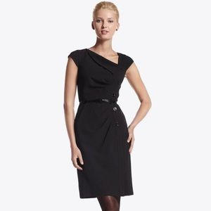 White House Black Market Asymmetrical Sheath Dress